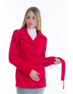 Пальто модель №15 жакет красное (весна/осень). Размер 40-48