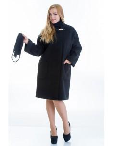 Пальто модель №20 черное (осень/зима). Размер 46-54