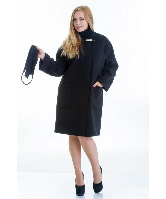 № 20 черное модель пальто № 20 oversize 2