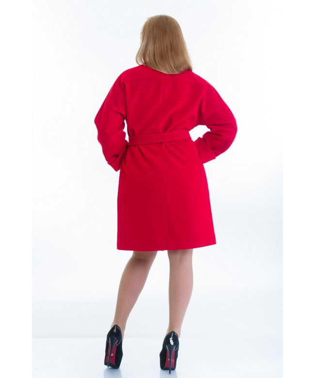 № 20 красное модель пальто № 20 oversize 2