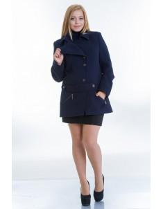 Пальто модель №40 синее. Размер 44-54