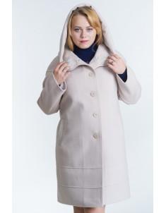 Пальто модель №21 (реглан) бежевое. Осень/зима. Размер 48-54