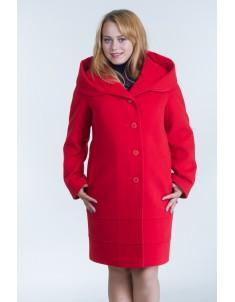 Пальто модель №21 (реглан) красное. Осень/зима. Размер 48-54