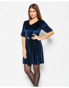 """Платье """"Велюр"""" синее (модель №17 мыс). Размеры 42-48"""