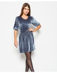 """Платье """"Велюр"""" серое (модель №17 мыс). Размеры 42-48"""