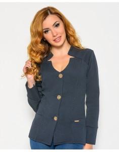 Пиджак модель №25 (пуговицы) синий. Размер 42-50