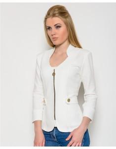 Пиджак модель №26 (змейка) белый. Размер 42-50