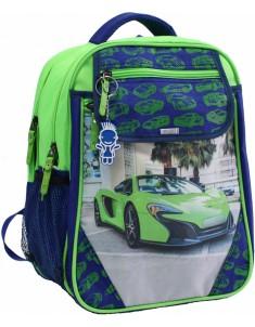 Рюкзак школьный Отличник 1-3 класс электрик с машиной