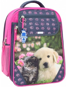Рюкзак школьный Отличник 1-3 класс серый 138Д
