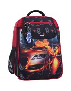 Рюкзак школьный Отличник 1-3 класс черный 500 с машиной