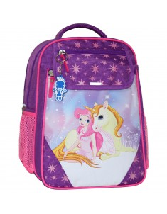 Рюкзак школьный Отличник 1-3 класс фиолетовый 387 единорог