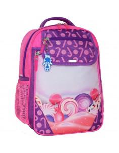 Рюкзак школьный Отличник 1-3 класс фиолетовый 409 конфеты