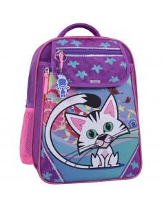 Рюкзак школьный Отличник 1-3 класс фиолетовый 502 котенок