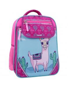 Рюкзак школьный Отличник 1-3 класс малиновый 617 лама