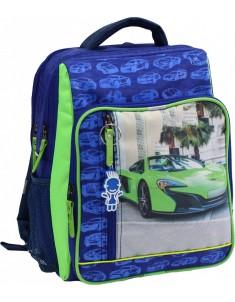 Рюкзак школьный модель Школьник 8 л электрик зеленая машина 20