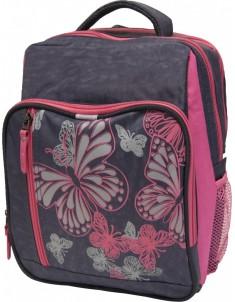 Рюкзак школьный модель Школьник 8 л серый розовый