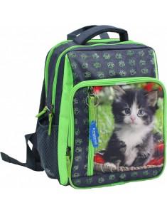 Рюкзак школьный модель Школьник 8 л серый котенок 59