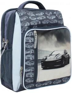 Рюкзак школьный модель Школьник 321 серый 43м