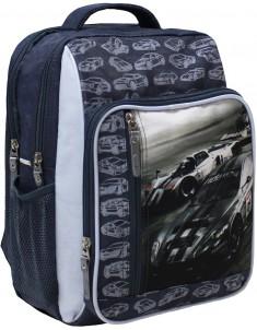 Рюкзак школьный модель Школьник 321 серый 7м