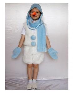 Костюм карнавальный Снеговик №1 из меха