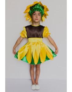 Костюм карнавальный детский Подсолнух №2 для девочки