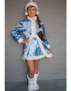Карнавальный костюм Снегурочка №3/1 белый или голубой
