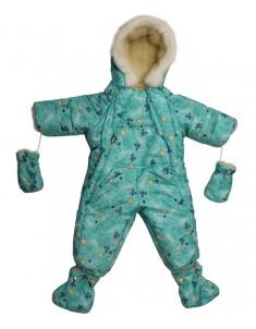Комбинезон-трансформер детский бирюзовый Мишки Звездочки
