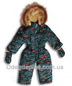 Детский зимний сдельный комбинезон Лыжник Тачки