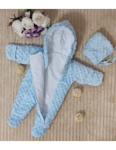Комбинезон детский демисезонный с шапочкой Минки разные цвета р. 62-68