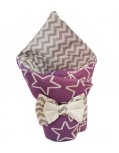 Конверт-одеяло на выписку Звезды вязка