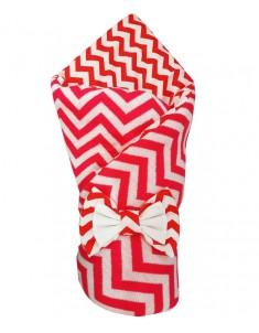 Конверт-одеяло на выписку Зигзаг вязка