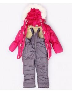 "Детский зимний костюм ""Резинка"" малина. Возраст: 1; 2; 3 года"