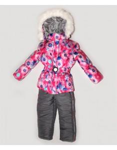"""Зимний костюм """"Одуванчик"""" розовый. Возраст: 1; 2; 3; 4 лет."""