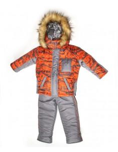 """Зимний костюм для мальчика """"Микс-спорт"""" оранжевый. Возраст : 1; 2; 3; 4 года."""