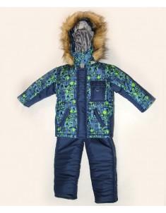 """Зимний костюм """"Спорт-клякса"""" синий на синтепоне. Возраст: 1; 2; 3; 4 лет."""