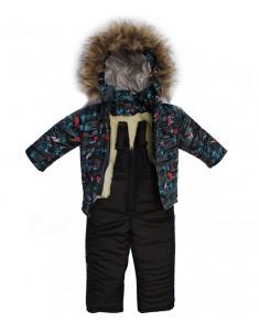 Зимний костюм Тачки серый