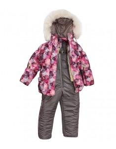 "Зимний костюм ""Снежинки"" сирень. Возраст: 1; 2; 3; 4 года."