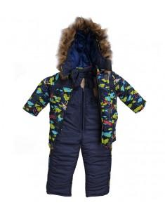 "Зимний костюм ""Самолёты"" синий на синтепоне. Возраст: 1; 2; 3; 4 лет."