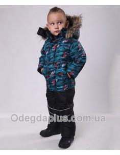 Зимний костюм Тачки синий