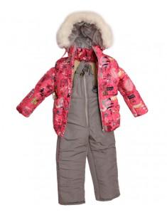 """Зимний костюм """"Коралловый город"""". Возраст: 1; 2; 3; 4 года."""