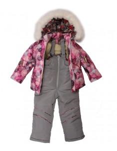 Костюм детский зимний для девочки Сиреневые Снежинки Мини размер 1 г