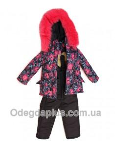 Зимний костюм Ночные цветы для девочки. Возраст: 1; 2; 3; 4 года.