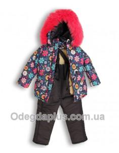 Зимний костюм Полевые цветы для девочки. Возраст: 1; 2; 3; 4 года.