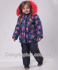 Зимний костюм Ночная Акация для девочки. Возраст: 1; 2; 3; 4 года.