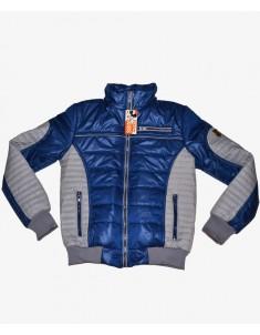 Куртка демисезонная синяя с серым