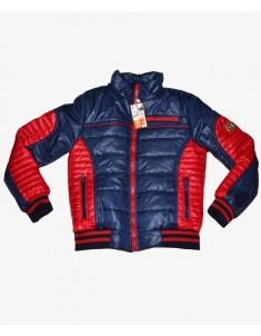 Куртка демисезонная синяя с красным