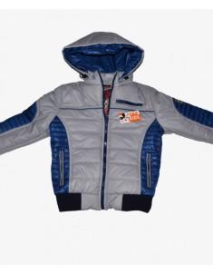 Куртка демисезонная серая с синим