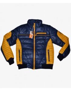 Куртка демисезонная синяя с желтым