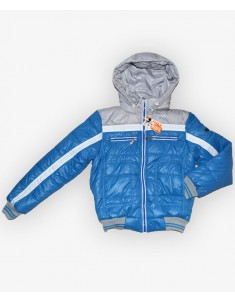 Куртка детская голубая с серым. Размеры 32-44