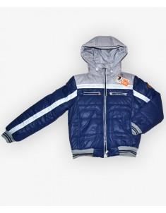 Куртка детская синяя с серым. Размеры 32-44